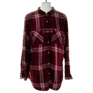 Mossimo Women's XLarge Plaid Blouse Top